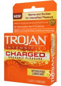 TROJAN INTENSIFIED CHARGED CONDOMS 3 PK