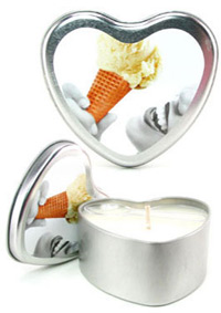EDIBLE HEART CANDLE VANILLA